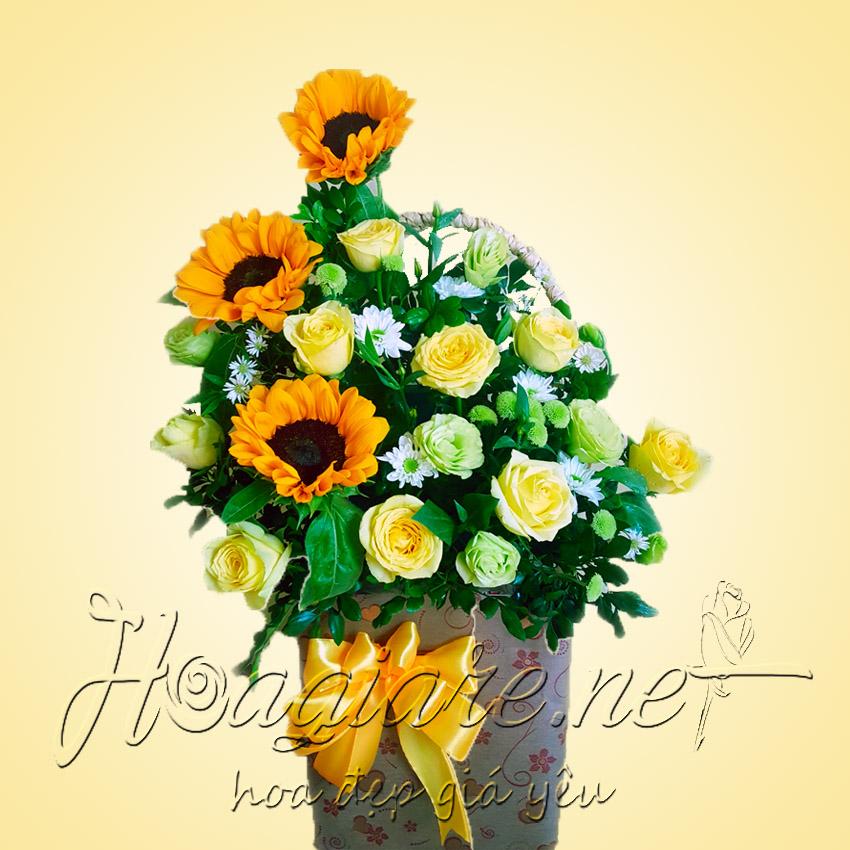 Giỏ hoa tươi G04