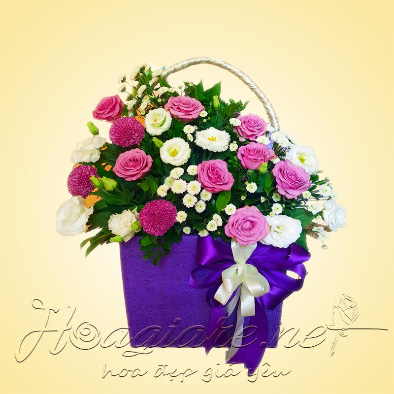 Giỏ hoa tươi G08